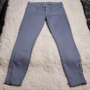 MOTHER 'The Looker' Ankle Zip Skinny Jeans